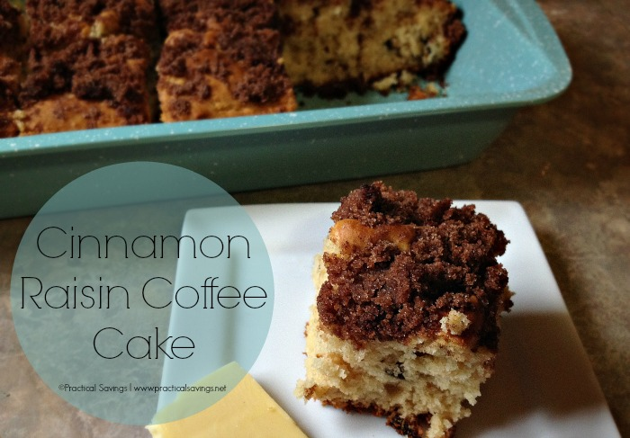 Clean Eating Cinnamon Raisin Coffee Cake