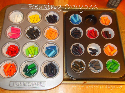 Reusing: Melting Crayons