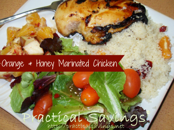 Weight Watcher's Orange and Honey Marinated Chicken with Couscous