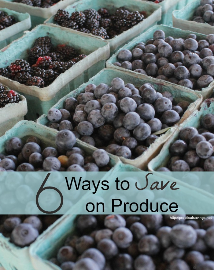 Looking for ways to help save on your grocery budget? Here are 6 ways to cut back on the produce part of your budget.