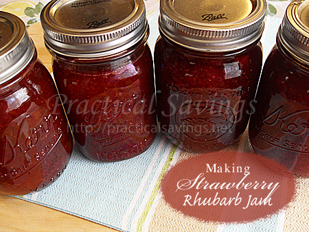 How to Can Strawberry Rhubarb Jam