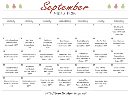 Sept Meal Plan Image