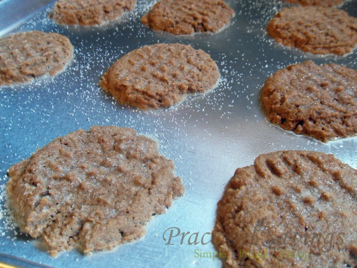 Easy peanut butter cookies that are also gluten and dairy free.