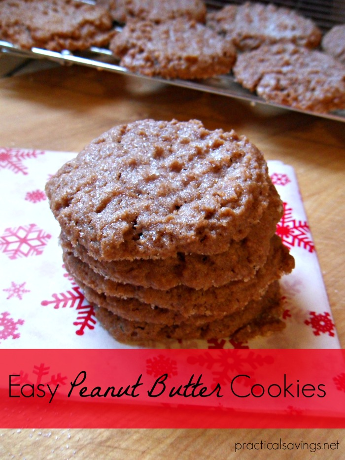 Try these easy and quick peanut butter cookies that also happen to be both dairy and gluten free.