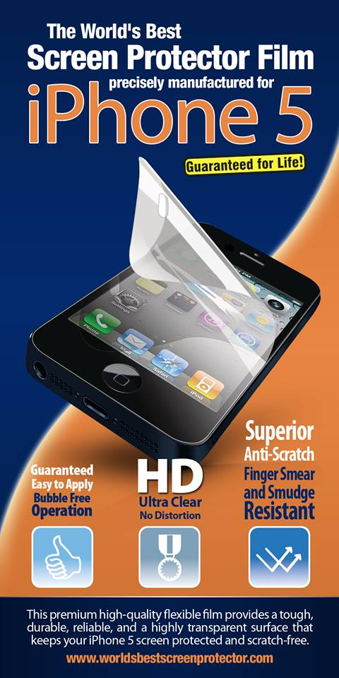 iPhone 5 Screen Protector Deal – One Day Only!