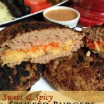 Sweet & Spicy Stuffed Burgers