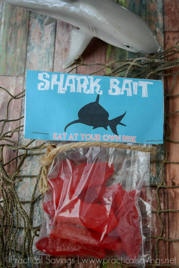 Shark Week Shark Bait Treat Bag with Printable