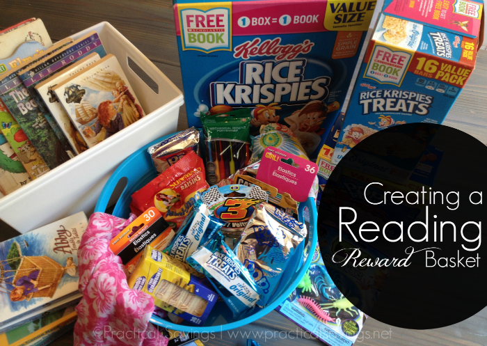 Create a Reading Reward Basket #sponsored