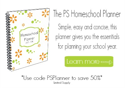 The PS Homeschool Planner Sale Graphic