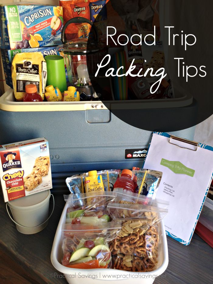 Road Trip Packing Tips + Camping Trip Planner Printable Pack