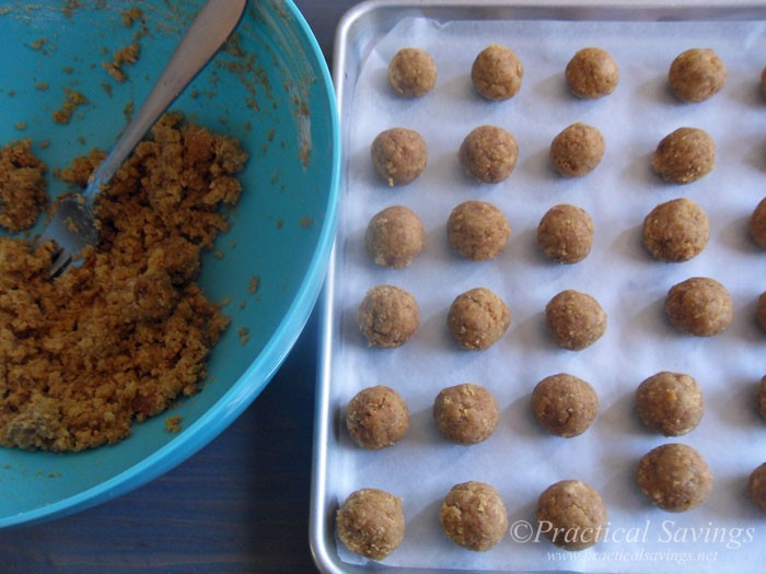 Spice Cake Mix Rolled Into Balls