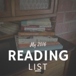 My 2016 Reading List