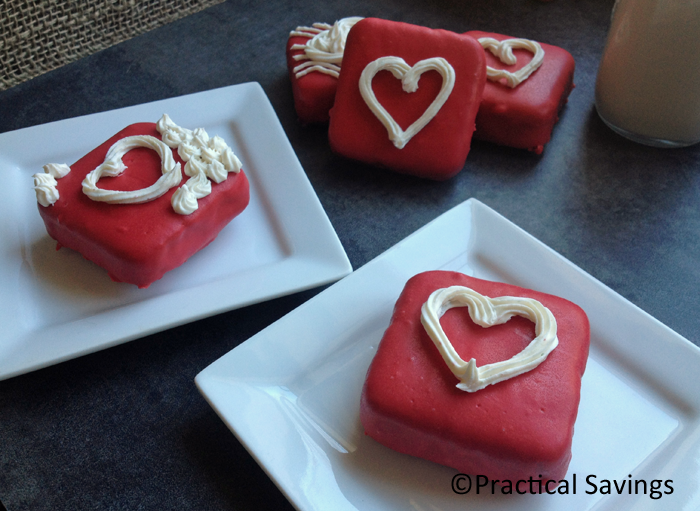 Personal sized Valentine's Day Brownie Cakes