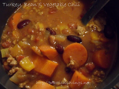 Weight Watcher's Turkey, Bean and Vegetable Chili