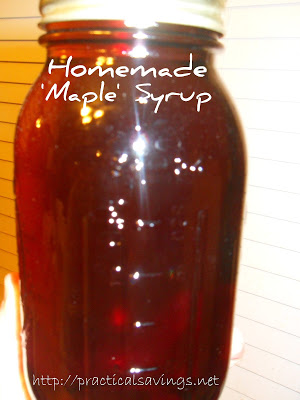 {Recipe} Homemade 'Maple' Syrup
