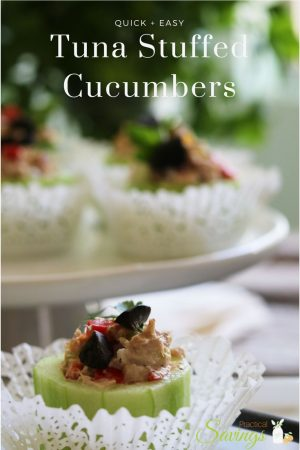 Tuna Stuffed Cucumbers
