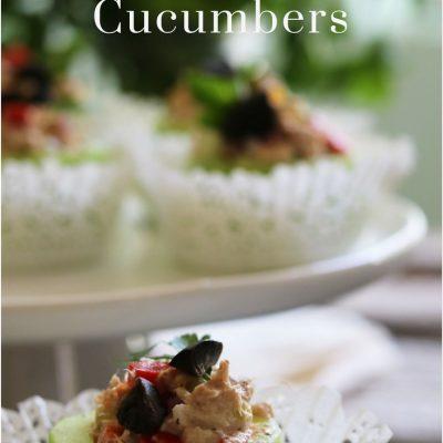 Tuna Stuffed Cucumbers