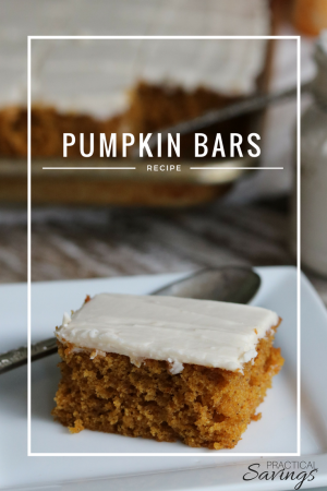 Pumpkin Bar Recipe