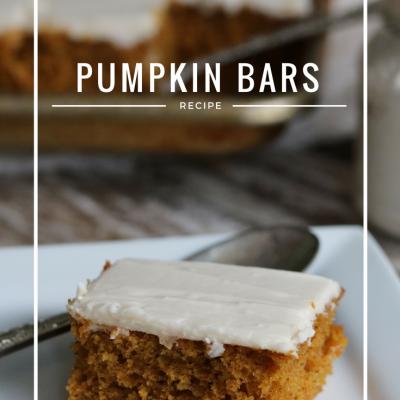 Pumpkin Bar Recipe