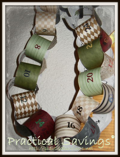 {Homemade Christmas} Count Down to Christmas Paper Chain