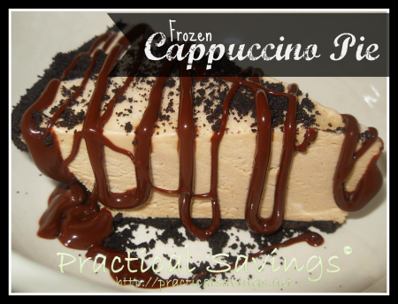 {Recipe} Weight Watcher's Frozen Cappuccino Pie