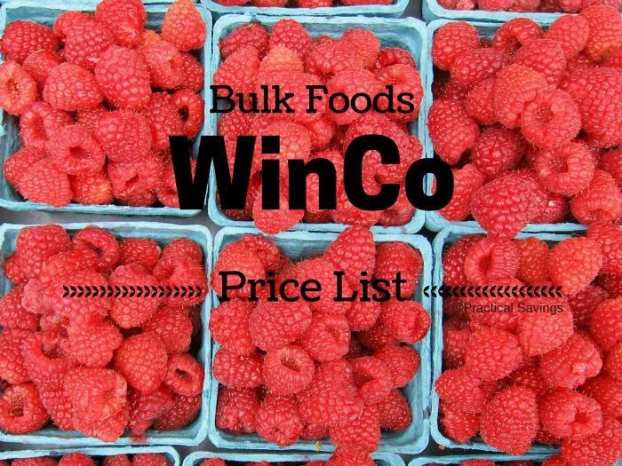 WinCo Foods Bulk Price List