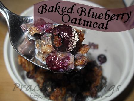 {Recipe} Baked Blueberry Oatmeal