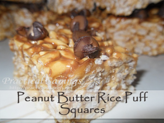 {Recipe} Peanut Butter Rice Puff Squares