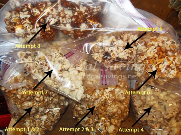 Making popcorn balls