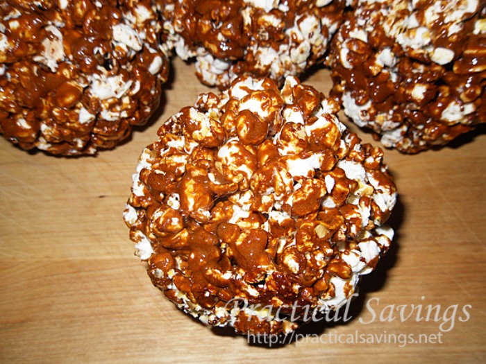 Coffee Flavored Popcorn Balls