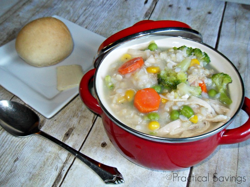 Turkey and Rice Soup – Using Up Thanksgiving Leftovers