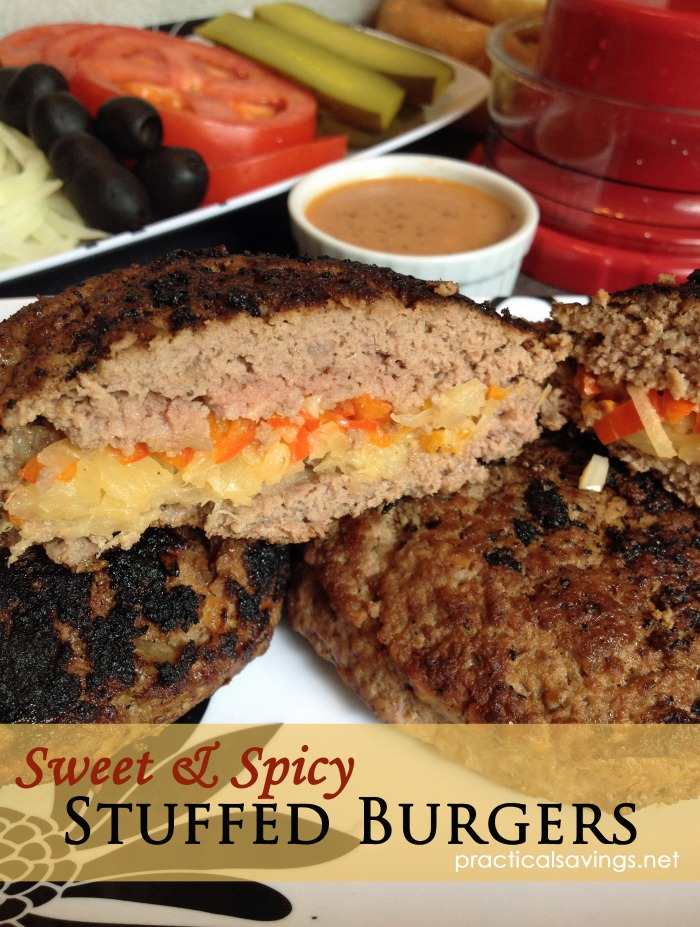 Summer grill favorites. Sweet & Spicy Burgers.