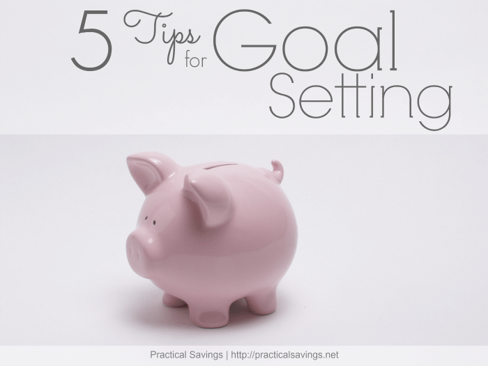 5 Tips to Goal Setting