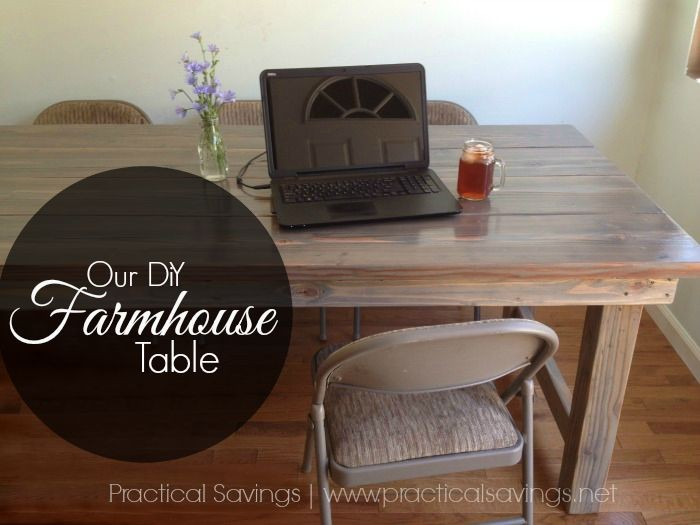 Our simple, easy DiY Farmhouse Table reveal