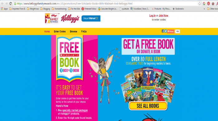 Kelloggs Free Book Promotion