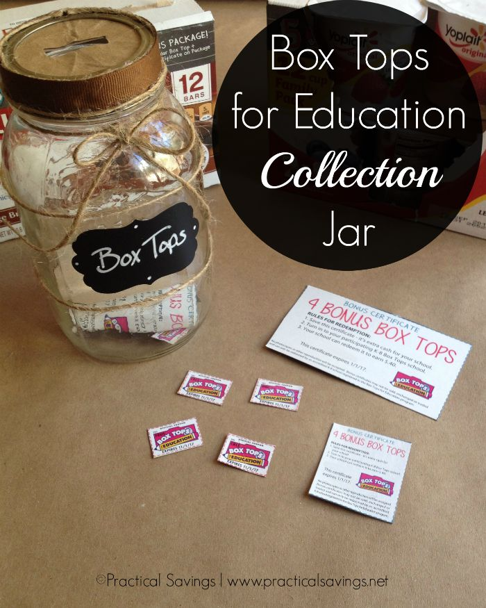 Making a Box Tops for Education Collection Jar – Mason Jar Crafts