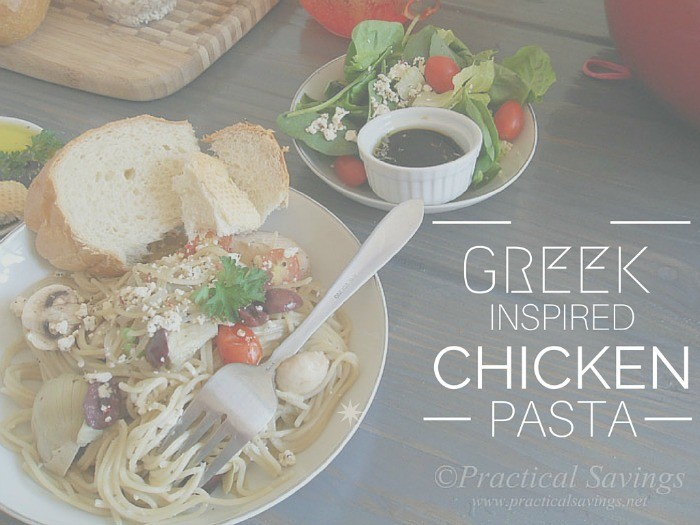 Greek Inspired Chicken Pasta Hor