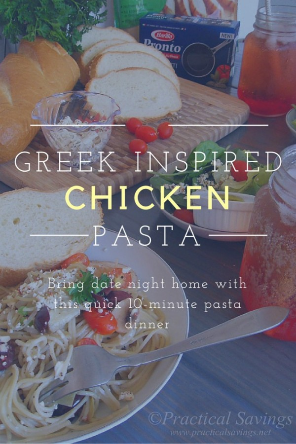 Greek Inspired Chicken Pasta Vertical