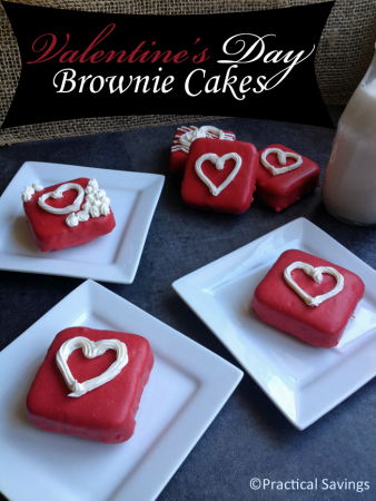 Valentine's Day Mini Brownie Cakes